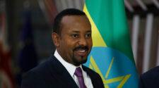 Etiopiens premiärminister Abiy Ahmed under ett besök i Europa 2019