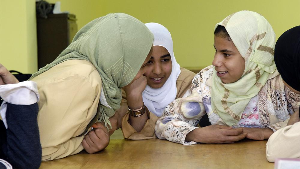 Flickor i en skola i Kairo