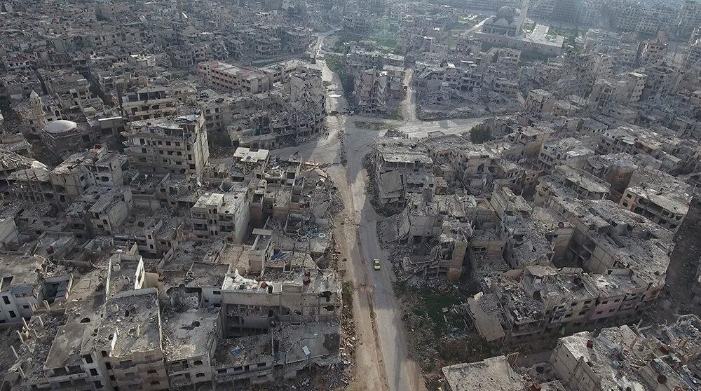 Homs var tidigare Syrien tredje största stad. Nu återstår mest ruiner som detta flygfoto visar.