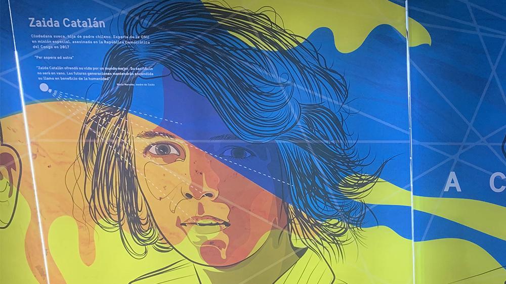 Zaida Catalán, bild från tunnelbanan i Santiago i Chile.