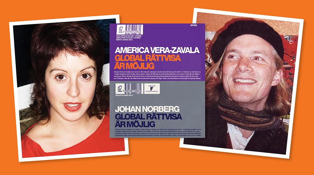 Porträtt på America Vera-Zavala och Johan Nordberg för 20 år sedan då de gav ut boken Global rättvisa är möjlig