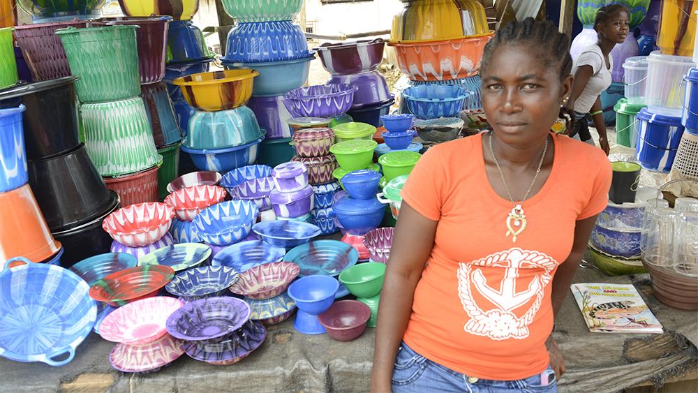 Stöd till småföretagare i Liberia, ett exempel på bistånd som finansieras av Sverige.