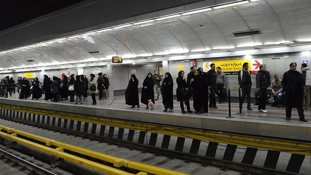 Teherans tunnelbana med särskilda vagnar för kvinnor.